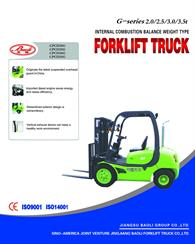 New G-Series Forklift