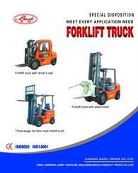 Forklift with Attachment